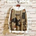 Camouflage Panel Lettering Hoodie