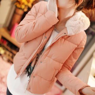 Fleece-lined Hooded Padded Jacket