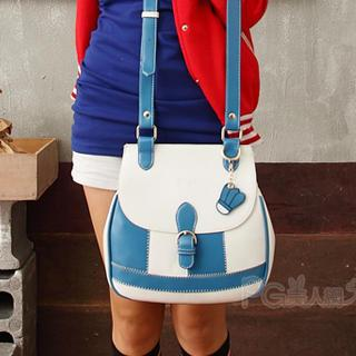 Color-block Shoulder Bag