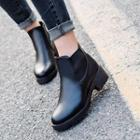 Low Heel Ankle Boots