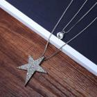 Rhinestone Star Layer Necklace