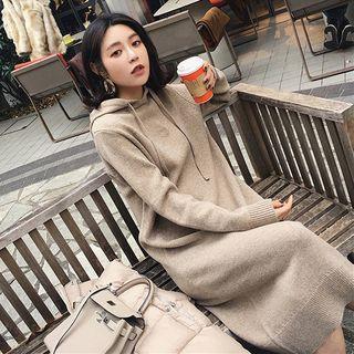 Hooded Midi Sweater Dress