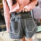 High-waist Woolen Shorts