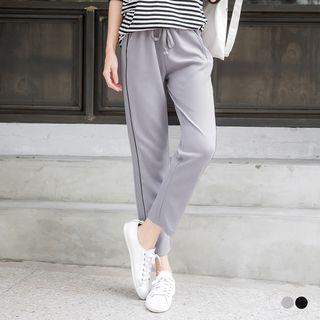Drawstring Straight Sweatpants