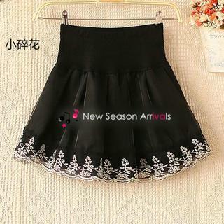 Lace-trim A-line Skirt
