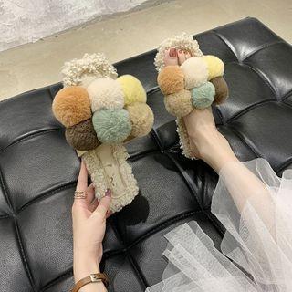 Bobble Furry Slippers