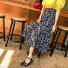 Floral Chiffon Maxi Chiffon Skirt