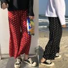 Cropped Dotted Chiffon Pants
