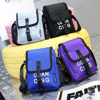 Lettering Nylon Crossbody Bag
