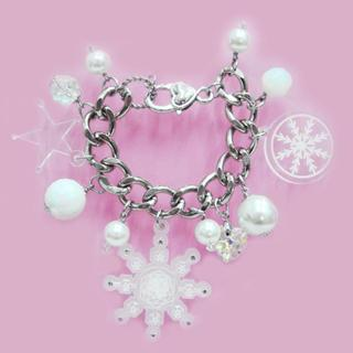 Sweet&co. White Snow Flurry Starlight Swarovski Crystal Bracelet