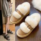 Platform Fluffy Ankle Boots