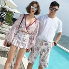 Couple Matching Floral Bikini / Cover-up / Swim Shorts / Set