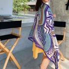 Patterned Shawl Purple - One Size