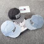 Embroidered Striped Baseball Cap