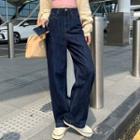 Wide-leg Jeans / Tank Top / Cardigan