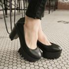 Chunky-heel Platform Pumps