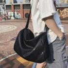 Sequined Shoulder Bag Black - One Size