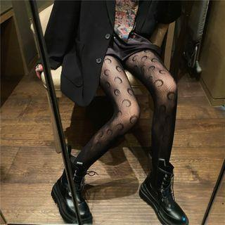 Moon-print Tights
