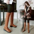 Platform Belted Tall Boots