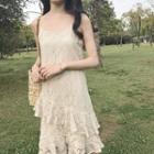 Lace Spaghetti Strap Dress
