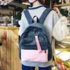 Two-tone Corduroy Backpack