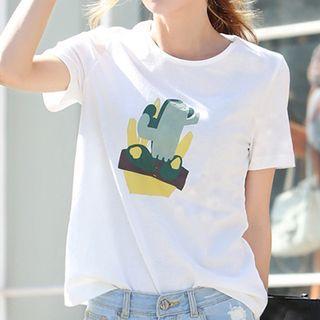 Cactus Print Short Sleeve T-shirt
