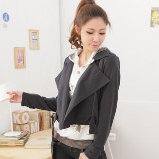 Side-zip Cropped Biker Jacket