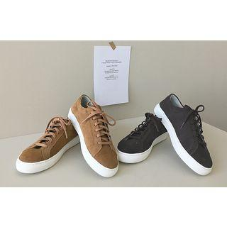 Lace-up Genuine Leather Sneakers