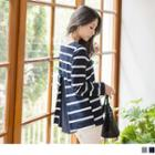 Pleated Back Striped Top