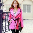 Tie-waist Hooded Quilted Jacket