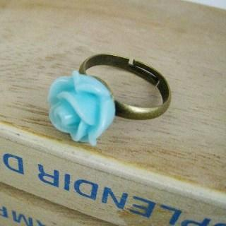 Blue Rose Copper Ring Copper - One Size