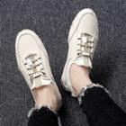 Genuine Leather Drawstring Sneakers