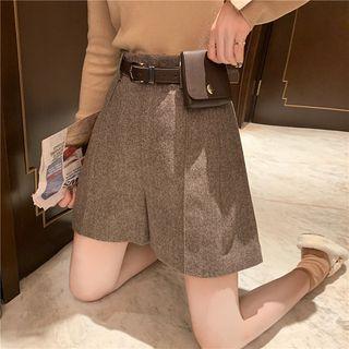 Set: Plain Shorts + Pouched Belt