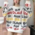 Long Sleeve Letter Printed Sweater