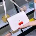 Cherry-detail Faux Leather Crossbody Bag