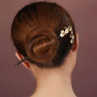 Retro Crystal Resin Flower Hair Stick