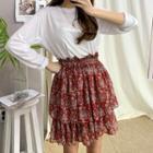 Paisley Layered Miniskirt