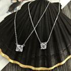 Rhinestone 925 Sterling Silver Necklace