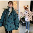 Heart Print Padded Jacket