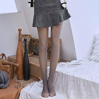 Plain Tights Dark Gray - One Size