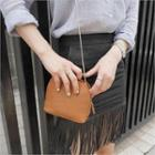 Faux-leather Chain Strap Shoulder Bag