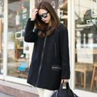 Wool Blend Zip Coat