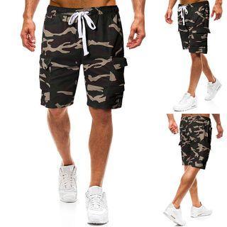 Camouflage Drawstring Cargo Pants