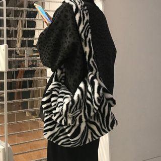 Zebra Messenger Bag Black & White - One Size