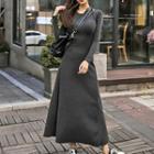 Plain Knit Maxi Dress