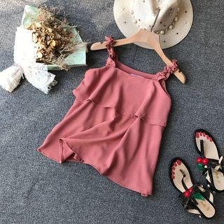 V-neck Double-layered Top