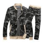 Set: Camouflage Zip Jacket + Sweatpants