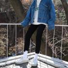 Raw Hem Slim Fit Jeans