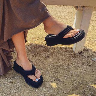 Wedge-heel Platform Flip-flops