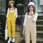 Pocketed Pinafore Jumpsuit